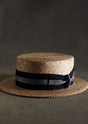 gatsby brooks brothers boater hat 1920s style for men clothing MT00121_TAN-BLUE_G.jpg